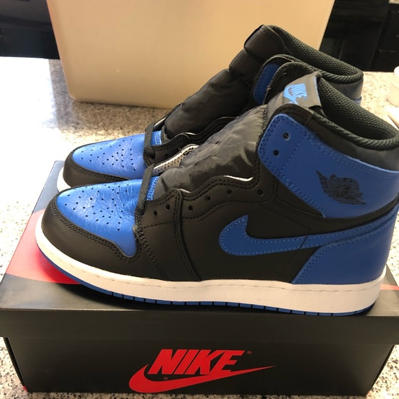 Air Jordan 1 Retro High Royal Blue GS 7 NWT